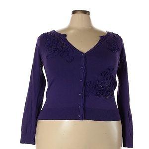 ❗️Lane Bryant Purple Cardigan MSRP $89!